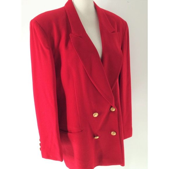 Christian Dior Vintage Red Double Breasted Blazer